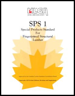 SPS 1 Special Products Standard for Fingerjoined Structural Lumber